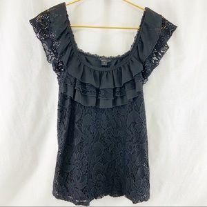 Twenty One Black Lace Top Size M